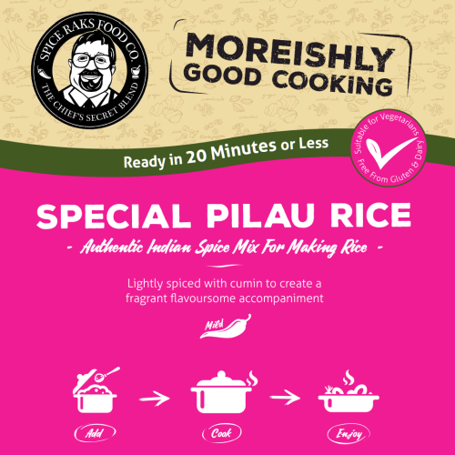 Chief's Special Pilau Rice Spice Mix Kit - 100% Authentic Good Taste!