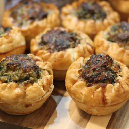 Salt Cod & Spinach Pie