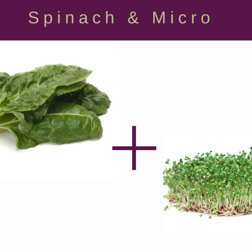 Spinach and Microgreens