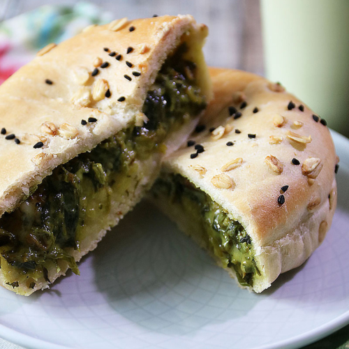 🌿 Russian Mushroom & Spinach Gourmet Pie (ve)