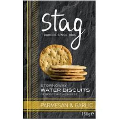 Stag - Water Biscuits Parmesan & Garlic