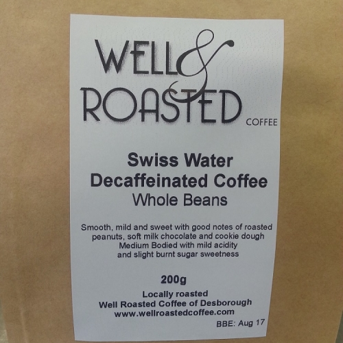 Swiss Water Processed Decaffeinated Whole Bean
