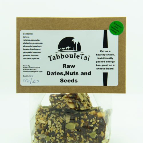 Raw - Dates, nuts & seeds / cinnamon, clove, cardamom & nutmeg