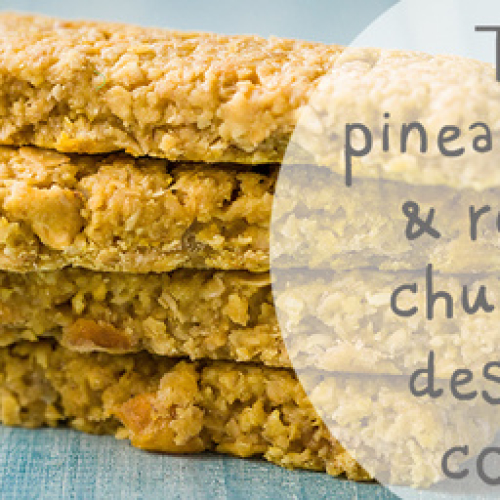 TANGY PINEAPPLE COCONUT & LIME SNACK BAR /W