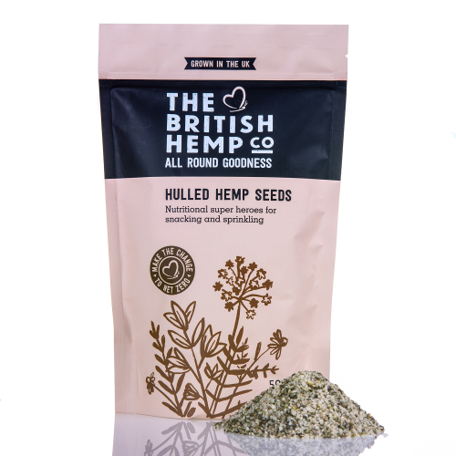 The British Hemp Company - Hulled Hemp Seeds 500g - Naturally high in Protein & Omega oils