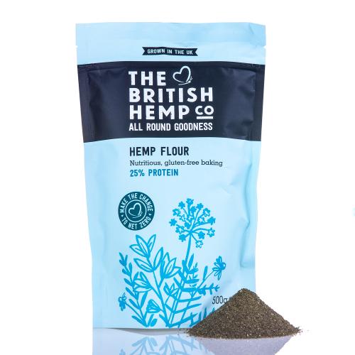 The British Hemp Company - Hemp Flour 500g - Gluten-free baking with increased plant-based protein