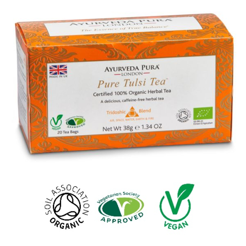 Pure Tulsi™ - Organic Herbal Tea - Tridoshic Blend - 38g Box