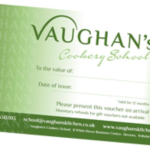 Vaughan's Cookery School Gift Voucher