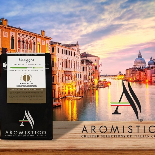 Premium Artisan Hand Roasted Coffee Beans Venezia Light Roast Selection Blend