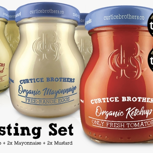 Curtice Brothers Ketchup, Mustard, Mayo Taster Piccolo Pack