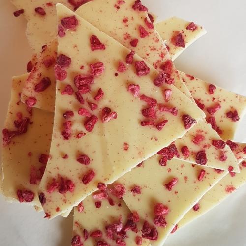 White Chocolate & Raspberry Bark
