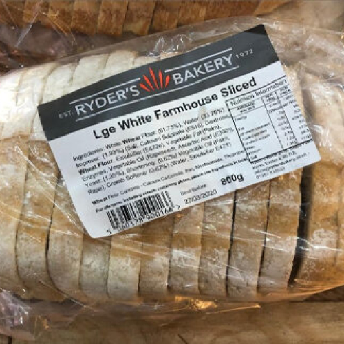 Sliced White Farmhouse Loaf (800g)