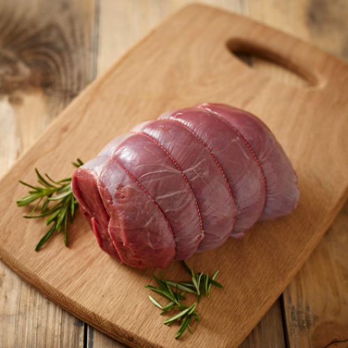VENISON HAUNCH BONED & ROLLED FROZEN MIN 800G WEIGHT
