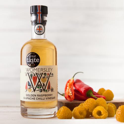 Golden Raspberry & Apache Chilli Vinegar, 250ml