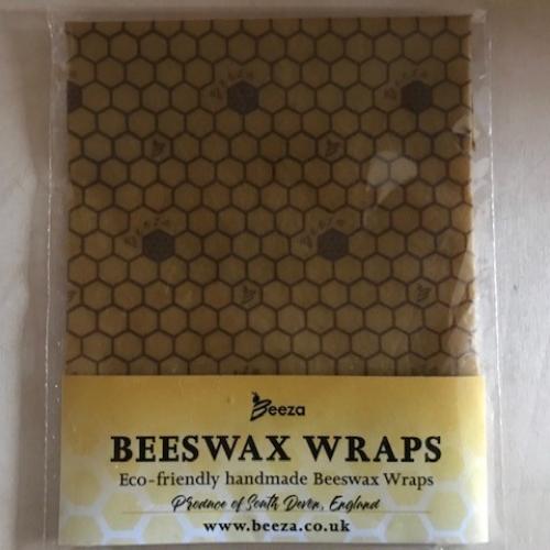 Eco-friendly, GOTS certified, handmade Beeswax Wrap - Beeza Log design - MEDIUM