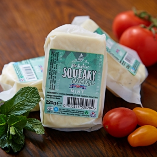 Yorkshire Squeaky Cheese with mint